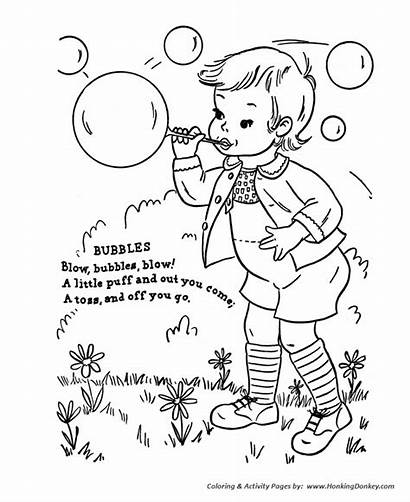 Nursery Rhymes Coloring Rhyme Pages Bubbles Goose