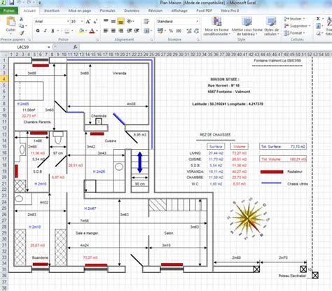 faire un plan de maison comment faire plan maison excel