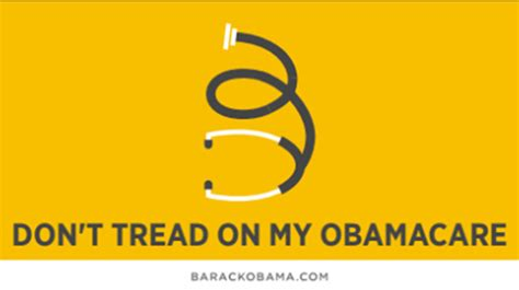 Don T Tread On Memes - obama co opts tea party slogan for obamacare bumper sticker