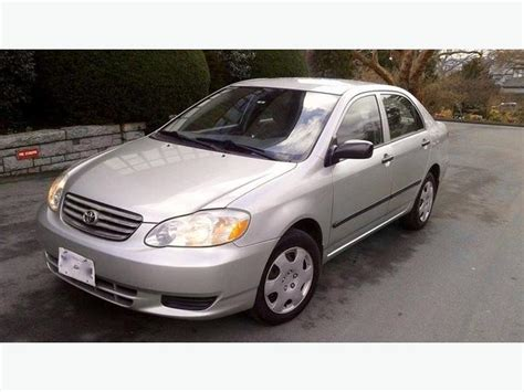 2003 Toyota Corolla Ce  Great Shape, Excellent Fuel