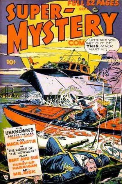 Rowboat Riddle by Mystery Comics Covers