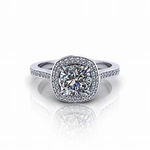 cushion halo engagement ring jewelry designs With cushion wedding rings