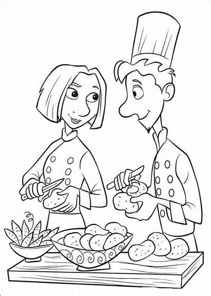 Coloring Pages Chefs Master Disney Cartoon Cheft