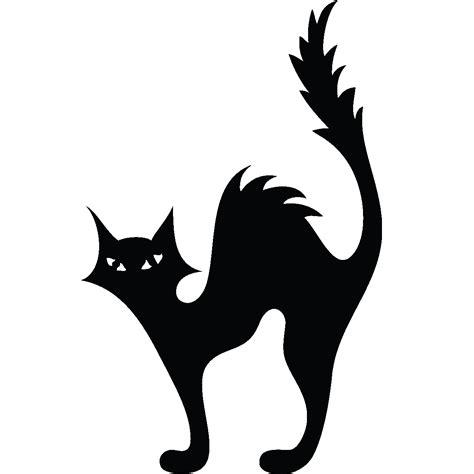 Cat Kitten Halloween Silhouette Clip art - black cat png ...