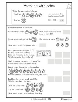 free problem solving worksheets for grade 1 free