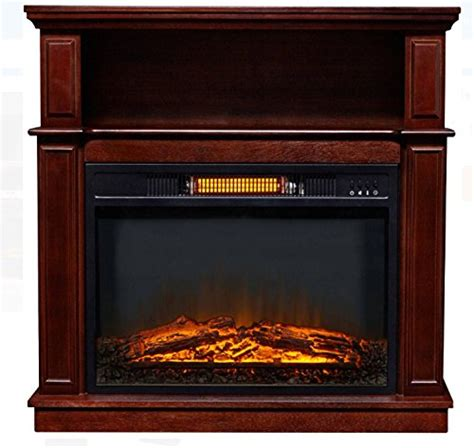 infrared decor flame electric fireplace with digital