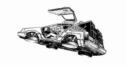 Delorean Future Pages Wrig Deviantart Sketch Dmc
