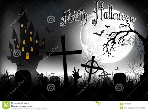 Witch In A Graveyard Night Royalty-free Stock Photo