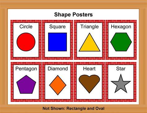 printable color poster  preschool shape posters