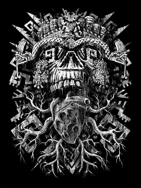 Aztec Skull by qetza on DeviantArt