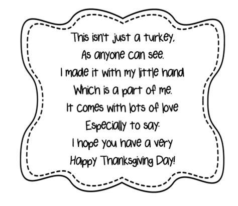 turkey handprint poem printables    teacher stuff