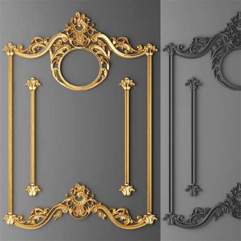 stucco decor frame  model baroque frames