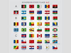 Set Of Sovereign State Flags AC Stock Vector Image
