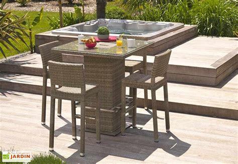 table et chaise salon ensemble bar de jardin panama 1 table 4 chaises