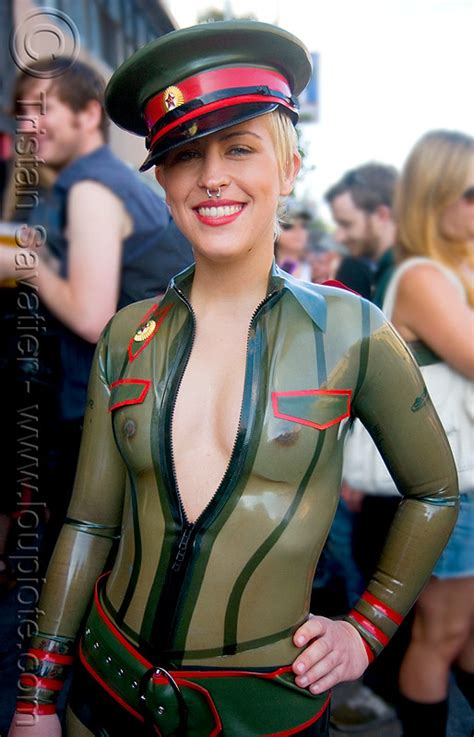 tranparent latex bodysuit costume folsom street fair