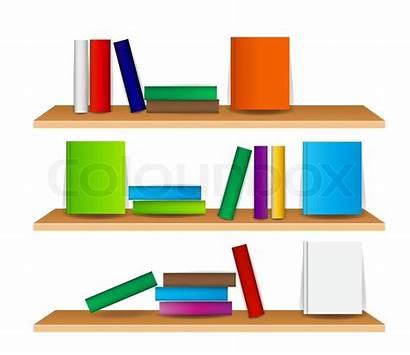 Clipart Vector Bookshelf Books Illustration Shelf Bookcase