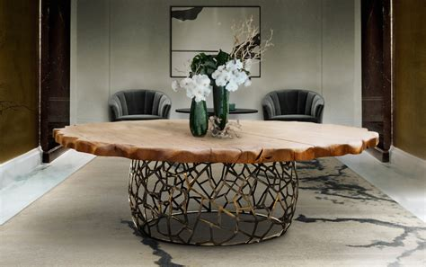 unique wooden dining tables   leave