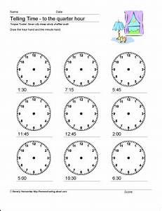 Zeitspannen Berechnen Grundschule : math worksheets telling time to the quarter hour ~ Themetempest.com Abrechnung