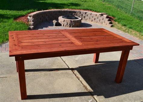 beautiful outdoor cedar patio table diy plans diy patio