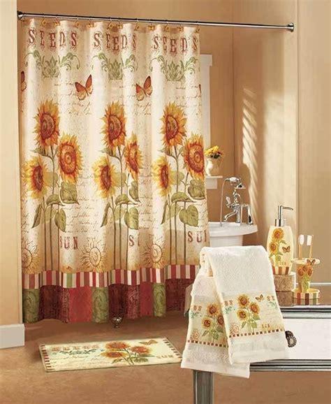 shower sunflower bathroom bath curtains curtain rugs