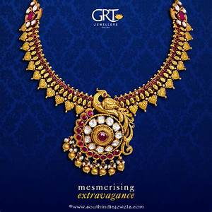 GRT Jeweller's Gold Antique Necklace Design ~ South India ...