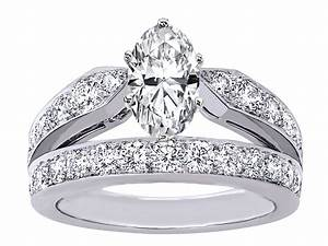 engagement ring oval diamond double band engagement ring With double band wedding rings