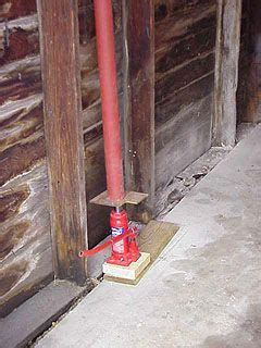 hydraulic jack  lally column   lift garage wall