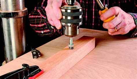 easy   install threaded inserts woodworking blog