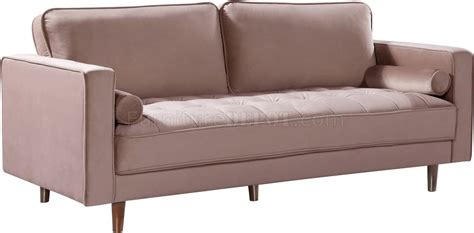 Emily Sofa by Emily Sofa 625 In Pink Velvet Fabric By Meridian W Options