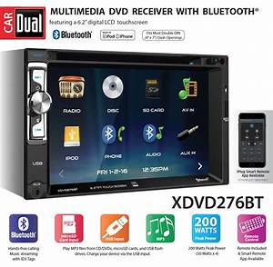 Dual Xdvd276bt 6 2 U0026quot  Lcd Touch Screen Double Din Car Stereo
