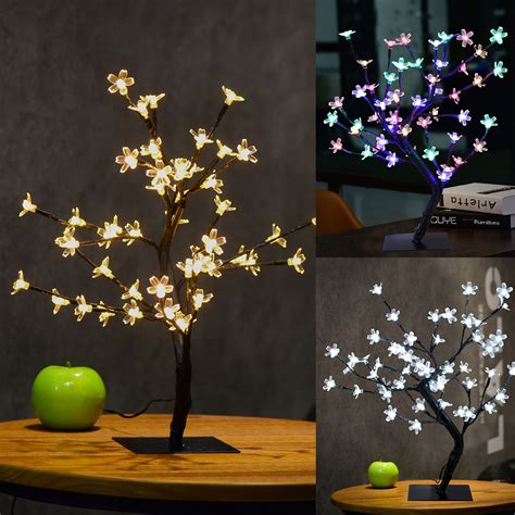 led pre lit bonsai cherry blossom tree light twig branch
