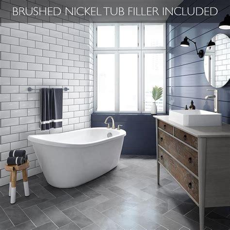 jacuzzi piccolo   white acrylic oval reversible drain freestanding bathtub  faucet
