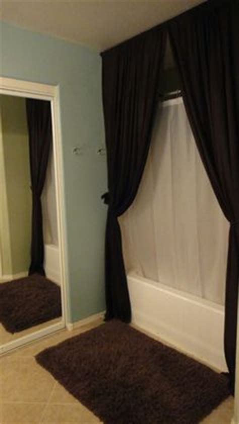 Floor To Ceiling Tension Rod Curtain by 1000 Images About Floor To Ceiling Curtains For Bathroom