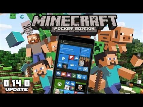 minecraft pocket edition v0 14 0 para windows phone 8 1 e windows 10 mobile