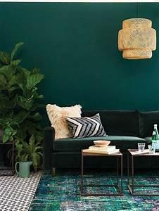 couleur peinture salon conseils et 90 photos pour vous With couleur tendance peinture salon 9 vert deco decoration peinture mobilier accessoires