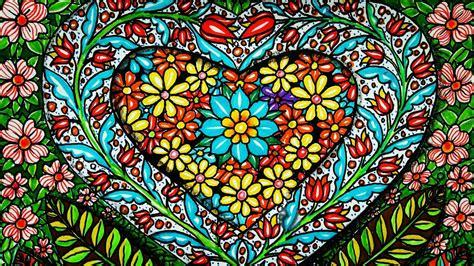mewarnai gambar bunga hias yang indah dengan sepidol