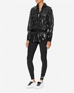 Adidas by stella mccartney Running Shorts Over Leggings in Black | Lyst