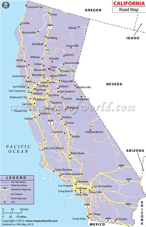 california road network map california pinterest map