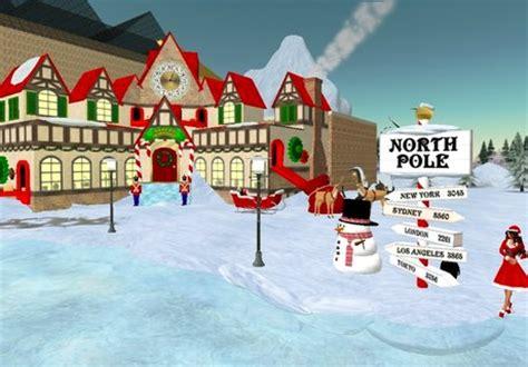 Santa S Workshop Wallpaper Animated - pole background www pixshark images