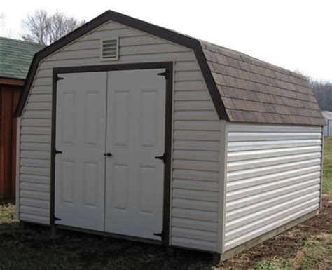 4 mini barn vinyl storage shed for sale