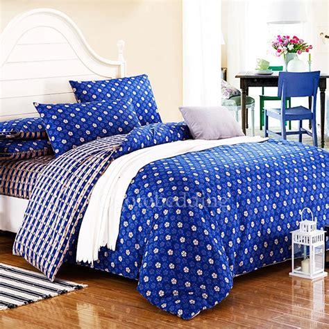high end royal blue floral cheap cheap comforter sets