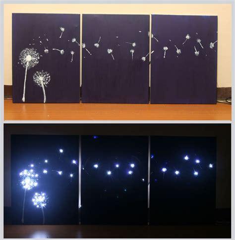 design three panel light up dandelion wall art how to