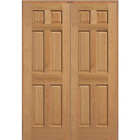 mmi door 61 5 in x 81 75 in unfinished oak 6 panel
