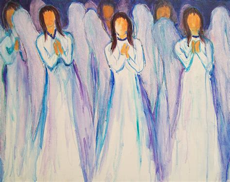 Classical Artwork by Angel Choir Painting By Sally Quillin