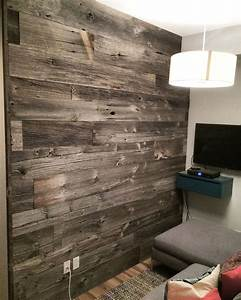reclaimed grey barn board feature wall by barnboardstore With barnwood feature wall