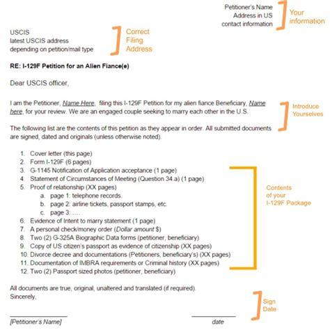 fiance visa cover letter exle i 129f cover letter sle 171 visa tutor