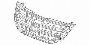 genuine 2013 15 honda crosstour grille base 75101 tp6 a61 With please feel free to look at the schematic of the device provided above