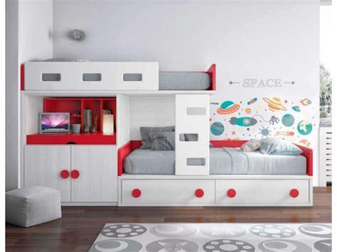 lit superpose avec bureau lit superposé décalé et personnalisable glicerio so nuit