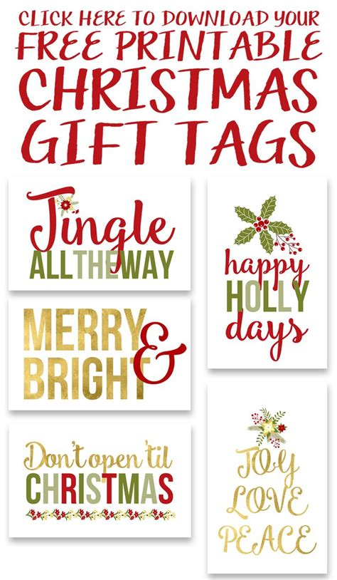 Best 25+ Christmas Gift Tags Printable Ideas On Pinterest  Christmas Tags Printable, Printable