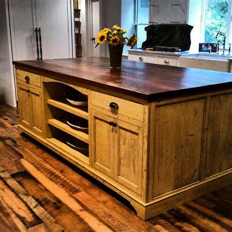 custom island kitchen custom designed kitchen islands made from reclaimed wood